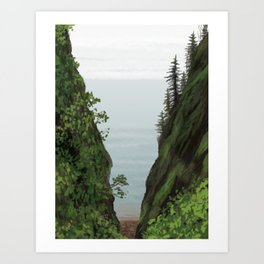 cape split Art Print