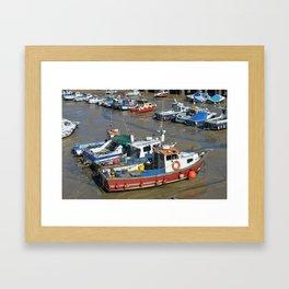 Boats In Folkestone Kent Harbour Framed Art Print