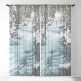 The Wild McKenzie River - Nature Photography Sheer Curtain