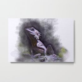 Forest Dragon Metal Print