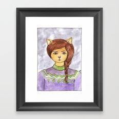 Plait Cat Framed Art Print