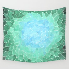 Abstract Sea Glass Wall Tapestry