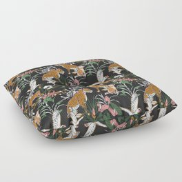 Leopards at night Floor Pillow