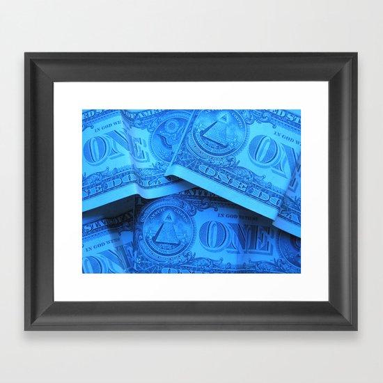 Four Crisp Dollar Bills Framed Art Print