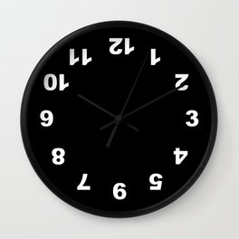 Numbers Clock Wall Clock Black Wall Clock
