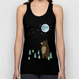 the moon balloon Unisex Tank Top