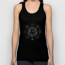 Moon, sun and elements Unisex Tank Top