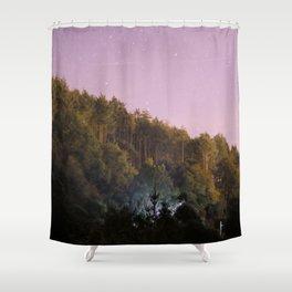 Daynight woodland activities Shower Curtain