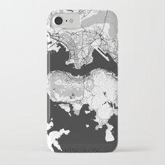 Hong Kong Map Gray iPhone 7 Slim Case