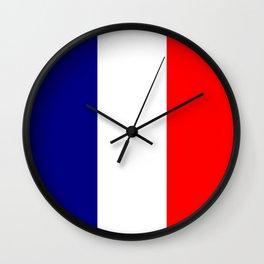 flag of france 4 Wall Clock