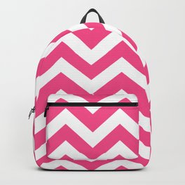 French rose - pink color - Zigzag Chevron Pattern Backpack