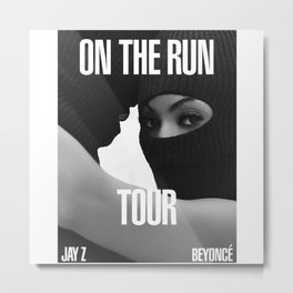 beyonce.and jay Z one the run Metal Print