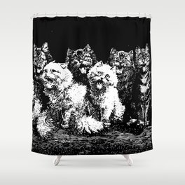 The Pack at Night Shower Curtain