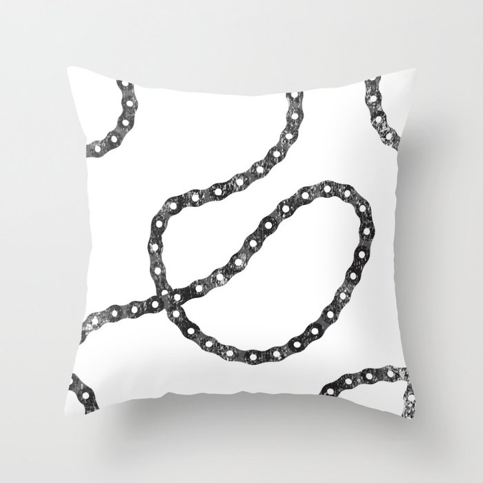 bicycle chain repeat pattern Throw Pillow