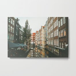 Amsterdam Canals Metal Print