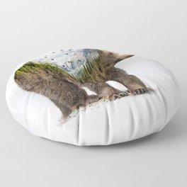 Wild I Shall Stay | Bear Floor Pillow