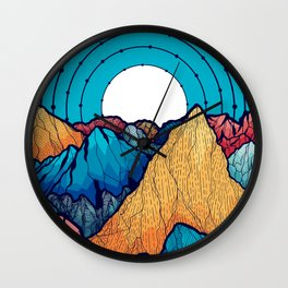 The rocky peaks Wall Clock