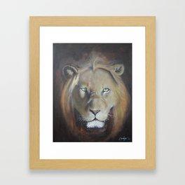 Felis Leo Framed Art Print