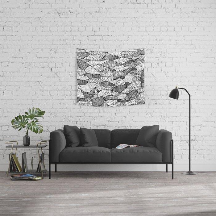 Broken Waves Wall Tapestry