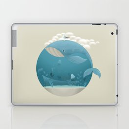 Seagull rest over whale Laptop & iPad Skin