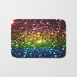 Geometric Galaxy Stars : Rainbow Bath Mat