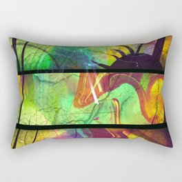 Painted Panes Abstract Rectangular Pillow