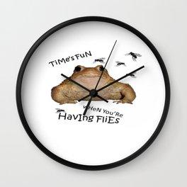 Time's Fun When You're Having Flies Wall Clock