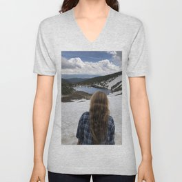 St Marys glacier Colorado Unisex V-Neck