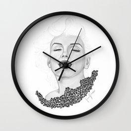 Marilyn B&W Wall Clock