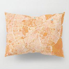 Jaipur, India, Gold, Blue, City, Map Pillow Sham