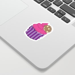 Raspberry Cookie Cupcake Sticker