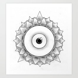 The Scaly Watcher Art Print
