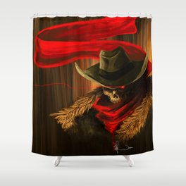 Skull Cowboy Shower Curtain