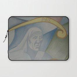 Mural peace Mother Teresa of Calcutta Laptop Sleeve