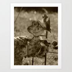 frog ornament Art Print