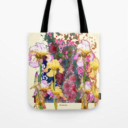 Decorative Yellow & Pink Spring Tote Bag