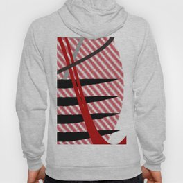 vision red black silver abstract geometric digital painting Hoody