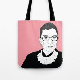 Ruth Bader Ginsburg, pink Tote Bag