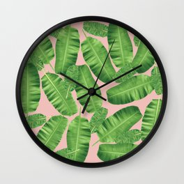 Foliage Pattern Wall Clock