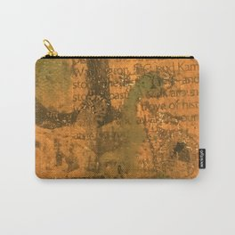 Orange Post Card Carry-All Pouch
