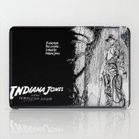 indiana jones iPad Cases featuring Indiana Jones and the Temple of Doom by Meredith Mackworth-Praed