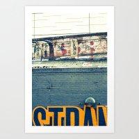 Layers of the street Art Print