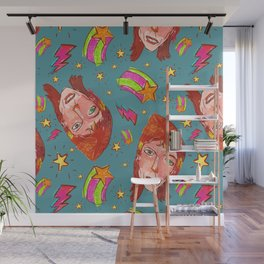 Glam Rock Icon Pattern Wall Mural
