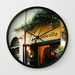 La Botticella | Europe Rome Italy Architecture Storefront Street City Photography Wall Clock
