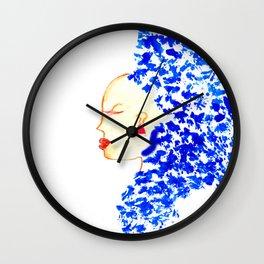 Blue Cleopatra Wall Clock