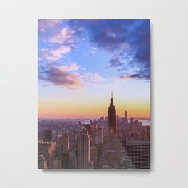NY Sunset Metal Print