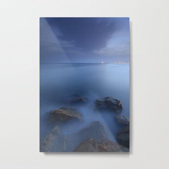"""Blue sea"". Blue hour. Metal Print"