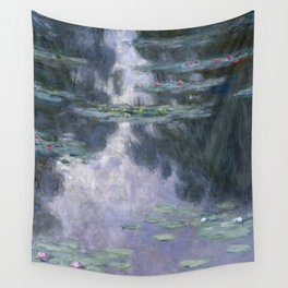 Water Lilies (Nymphéas) Wall Tapestry