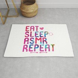 Eat Sleep ASMR Repeat Brain Whisper Rug