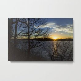 Sunset Over Lake 1 Metal Print
